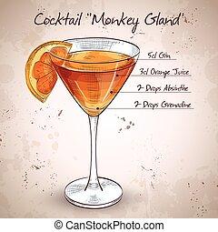 Cocktail-Affendrüse.