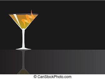 cocktail, altes , oder, gestaltet, kosmopolitisch