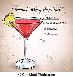 Cocktail Mary Pickford.