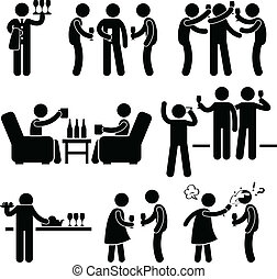 Cocktail-Party-Leute-Freund.