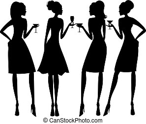 Cocktail-Party-Silhouettes