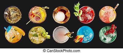 cocktails, exotische , panorama, banner, alkoholiker