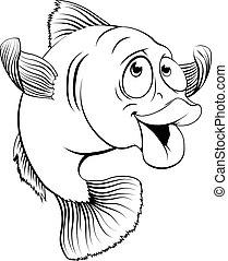 Cod Fish Cartoon.