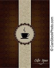 Coffe-Haus-Menü-Design