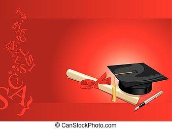 College-Grußkarte rot