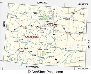 Colorado Nationalparkkarte.