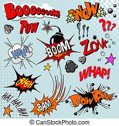 Comic-Buch-Explosion