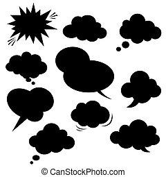 Comic-Rede Blase. Vector.