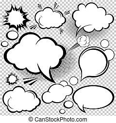 Comic-Rede Blasen