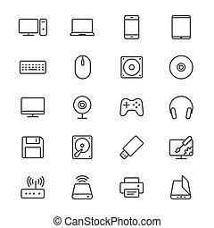 Computer dünne Icons