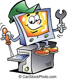 Computer-Maskottchen reparieren