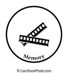 Computer-Memory-Icon-Vektorgrafik