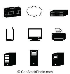 Computer und Netzwerk-Ikonen