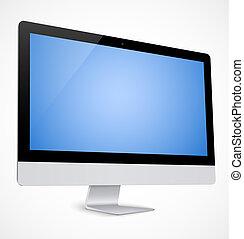 Computeranzeige mit blauem Bildschirm