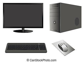 Computerkoffer mit Monitor, Tastatur und Maus
