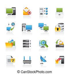 Computernetze und Internet-Ikonen
