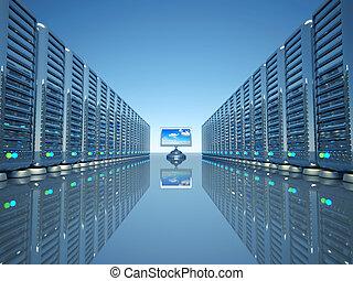 computernetzwerk, server