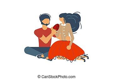 concept., datieren, romantische