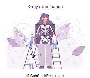 concept., skelett, gesundheit, voll, jährlich, menschliche , prüfung