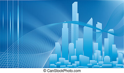 Conceptual City Business Hintergrund