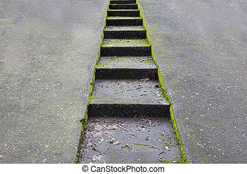 Concrete Auffahrt und Treppe