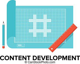 Content-Entwicklung flache Illustration