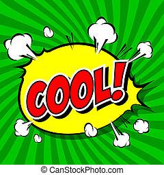 Cool! Comic-Rede Blase, Cartoon.