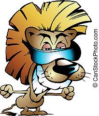 Cooler Löwenkönig