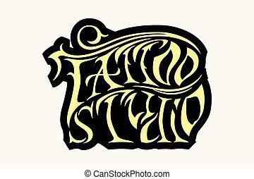 Cooles Retro-Stil Vektor-Emblem. Tattoo-Studio-Schild.