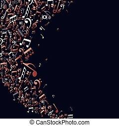 Copper Music Noten Konzept Hintergrund