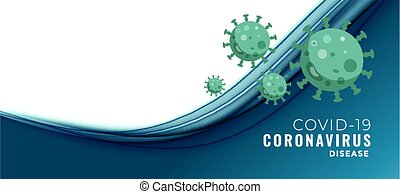 coronavirus, banner, text, begriff, raum, covid-19