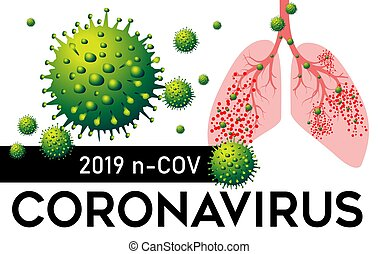 coronavirus, illustration., vektor, pneumonia, 2019, lungen, n, cov, porzellan