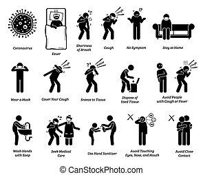 coronavirus, zeichen, tips., prävention, symptome