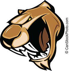 Cougar mascot Kopfgrafik