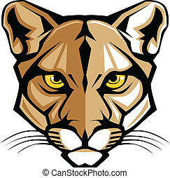 Cougar Panther Maskottchen-Kopfvektor G