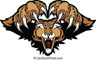 Cougar Puma Maskottchen, die Grafik anprangern