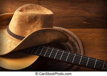Country Music Hintergrund mit Gitarre.