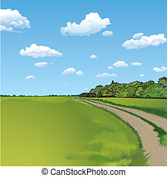 Countryside Road, ländliche Szene