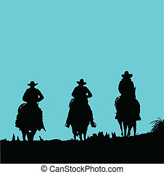 Cowboy drei Vektoren