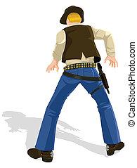 Cowboy in Duellposition
