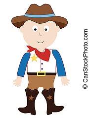 Cowboy-Kostüm.