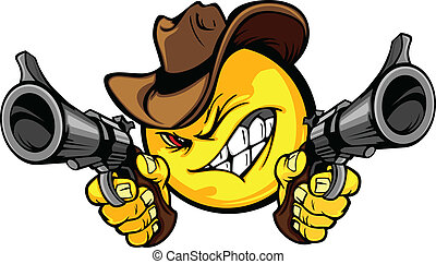 Cowboy Smiley Vektor Illustration