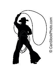 Cowboy Vektorsilhouette