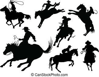 Cowboys schleichen
