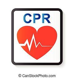 CPR ( Kardiopulmonalresuszitation ) , Herz und EKG ( Electrocardiogram ) (Bild für grundlegende Lebenserhaltung und fortgeschrittene Herz-Lebenserhaltung )