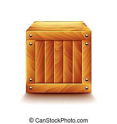 Crate isoliert auf weißem Vektor.