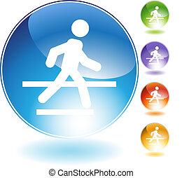 Crosswalk kristall icon