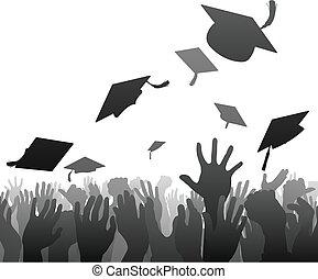 crowd, promoviert, studienabschluss