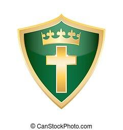Crucifix holly Christian Cross Shie.