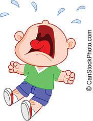 Crying boy